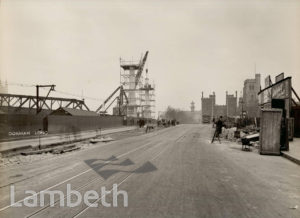 LAMBETH BRIDGE, LAMBETH: CONSTRUCTION