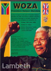 NELSON MANDELA VISIT: POSTER