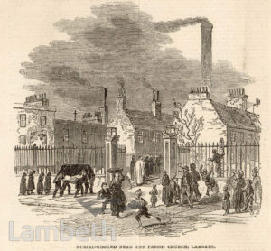 BURIAL GROUND, PARADISE STREET, LAMBETH