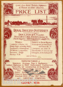 DOULTON POTTERY CATALOGUE