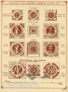 DOULTON POTTERY CATALOGUE, MEDALLIONS