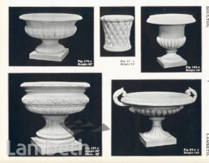 DOULTON POTTERY CATALOGUE, GARDEN VASES