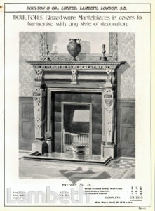 DOULTON POTTERY CATALOGUE, FIREPLACE