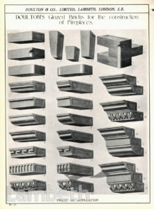 DOULTON POTTERY CATALOGUE, GLAZED BRICKS
