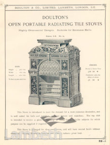 DOULTON POTTERY CATALOGUE, STOVE