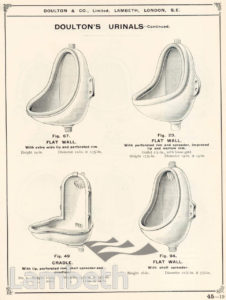 DOULTON POTTERY CATALOGUE, SANITARY APPLIANCES
