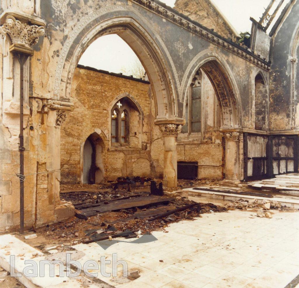 ST LEONARD'S CHURCH, STREATHAM CENTRAL: FIRE OF 1975