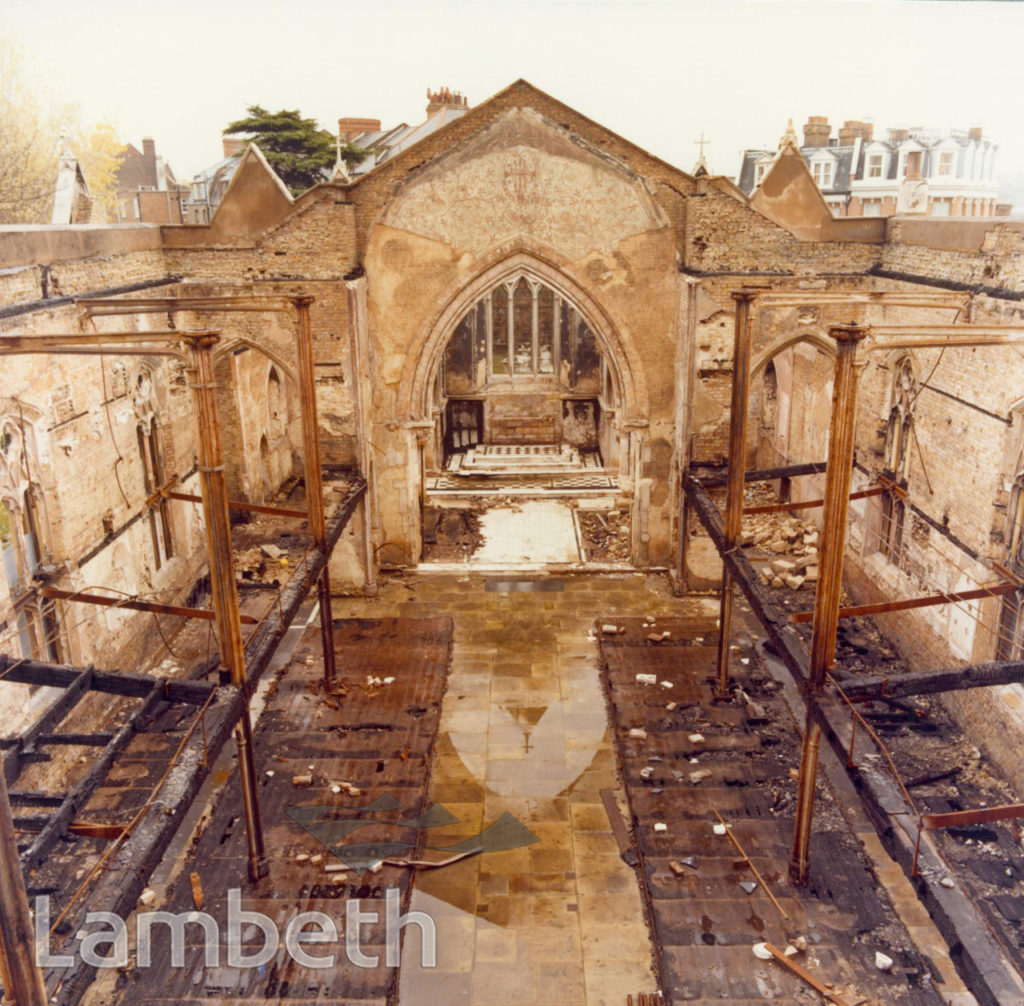 ST LEONARD'S CHURCH, STREATHAM CENTRAL: FIRE OF 1975