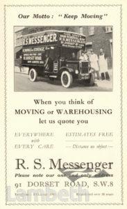 R. S. MESSENGER, DORSET ROAD, SOUTH LAMBETH