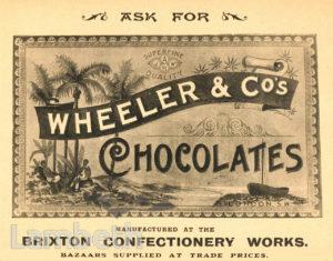 WHEELER & CO, BRIXTON ROAD, BRIXTON NORTH: ADVERTISEMENT