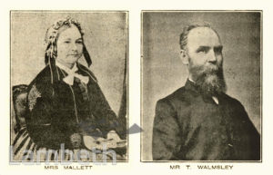 MRS MALLET AND MR WALMSLEY, MOFFAT INSTITUTE, VAUXHALL