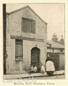 MISSION HALL, CLARENCE PLACE, VAUXHALL