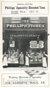 PHILLIP'S STORES, 128 LAMBETH WALK, LAMBETH