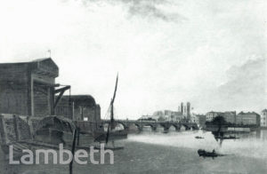 VIEW OF WESTMINSTER BRIDGE FROM THE THAMES