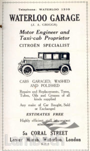 WATERLOO GARAGE, CORAL STREET, WATERLOO: ADVERTISEMENT