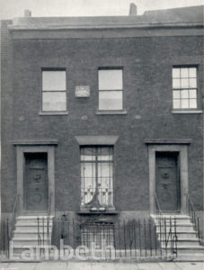 SIR ARTHUR SULLIVAN'S HOUSE, BOLWELL TERRACE, LAMBETH
