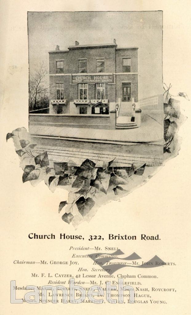 CHURCH HOUSE, BRIXTON ROAD, BRIXTON NORTH