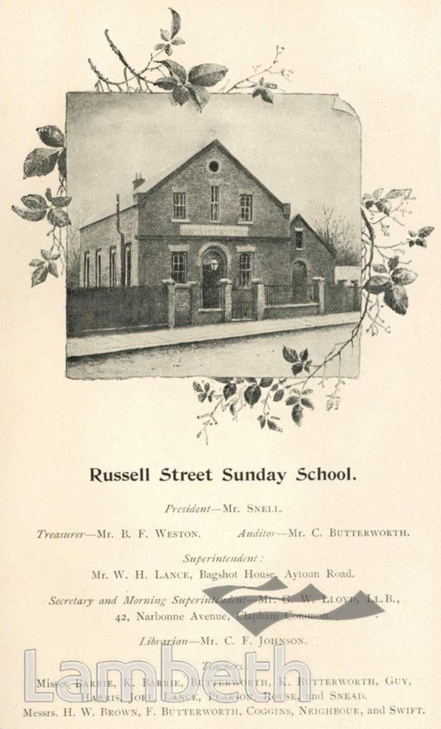 SUNDAY SCHOOL, RUSSELL STREET, VAUXHALL