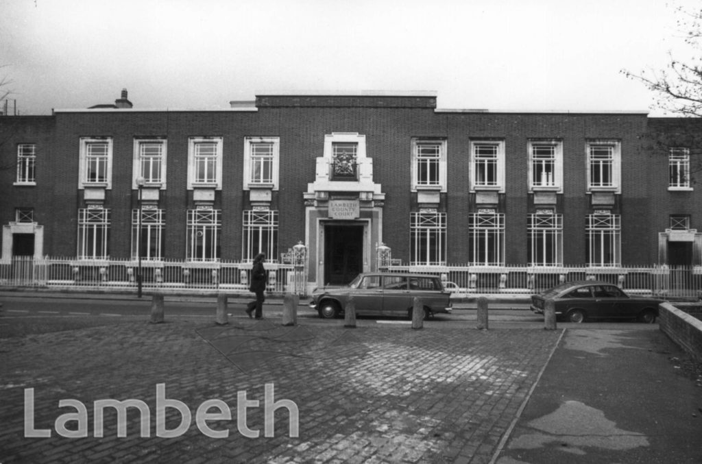 LAMBETH COUNTY COURT, CLEAVER SQUARE, KENNINGTON