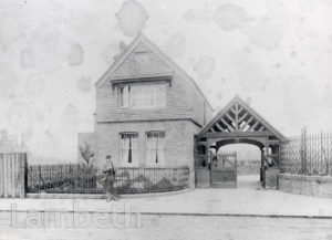 PARK KEEPER'S LODGE, MYATT'S FIELDS, KNATCHBULL ROAD