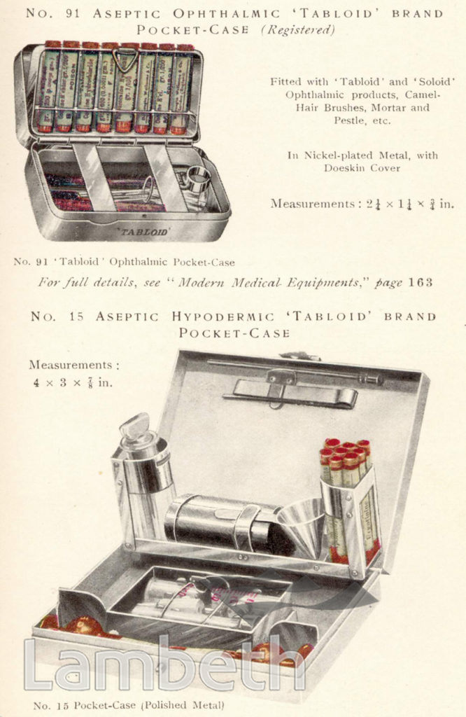 BURROUGHS WELLCOME & Co., MEDICAL EQUIPMENT, HERNE HILL