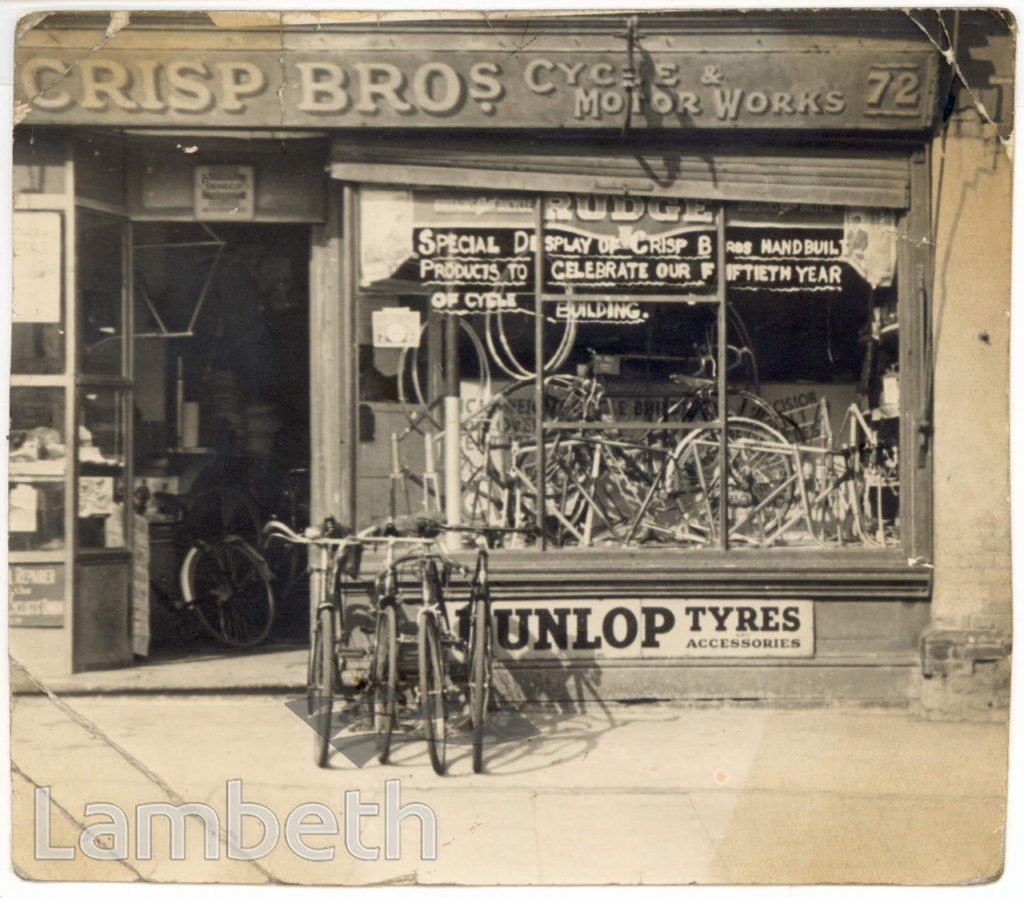 CRISP BROTHERS CYCLE & MOTOR WORKS, NORWOOD HIGH STREET