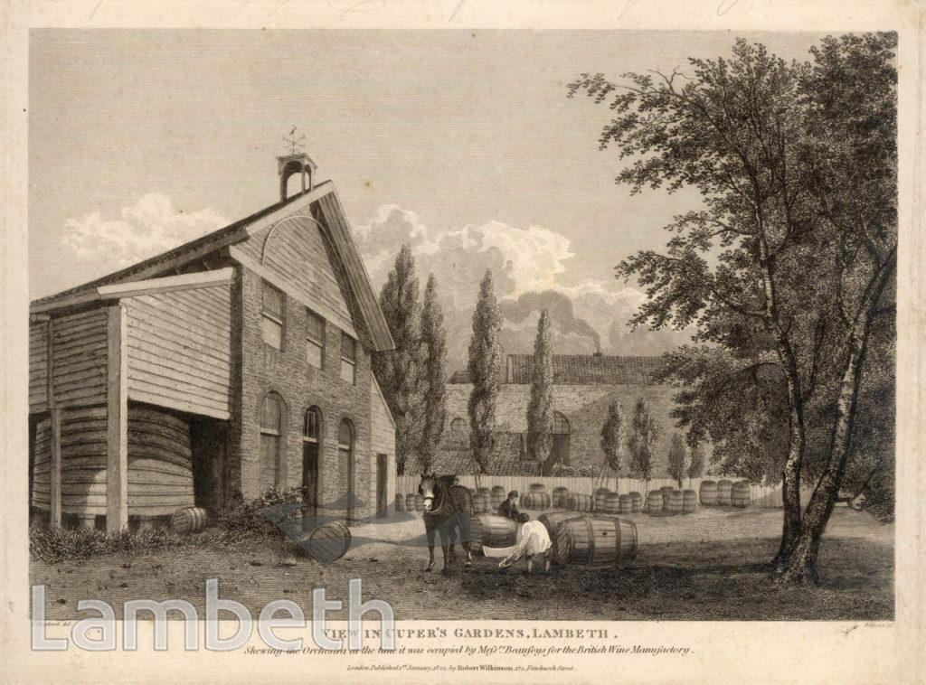 BEAUFOY'S WINE MANUFACTORY, CUPER'S GARDENS, WATERLOO