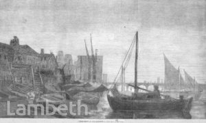 PETER-BOATS AT OLD LAMBETH, THAMES FORESHORE