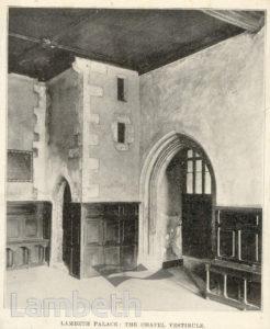 LAMBETH PALACE, CHAPEL, LAMBETH