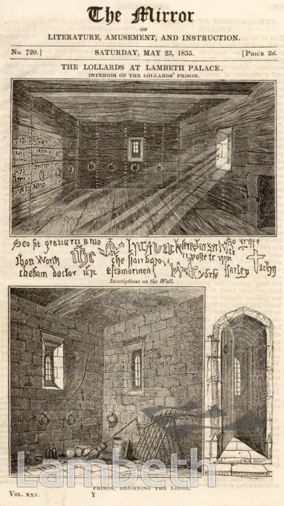 LAMBETH PALACE, LOLLARDS' PRISON, LAMBETH