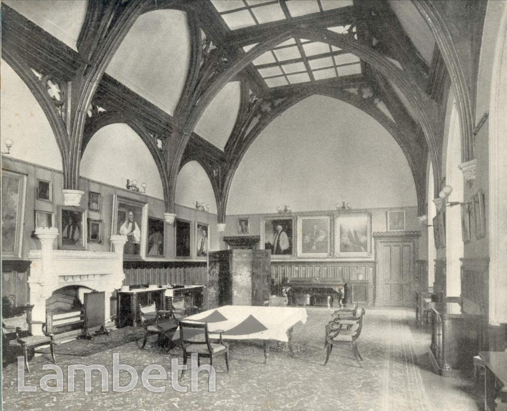LAMBETH PALACE, GUARD ROOM, LAMBETH