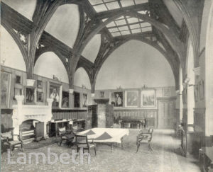 LAMBETH PALACE, GUARD ROOM, LAMBETH