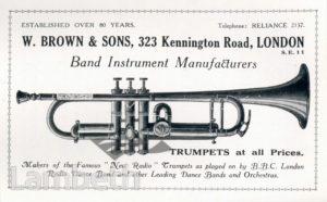 MUSICAL INSTRUMENT MAKERS, W. BROWN & SONS LTD., KENNINGTON