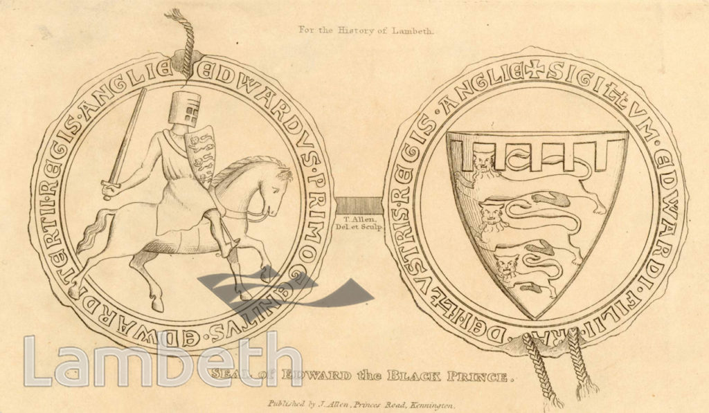 SEAL OF EDWARD THE BLACK PRINCE