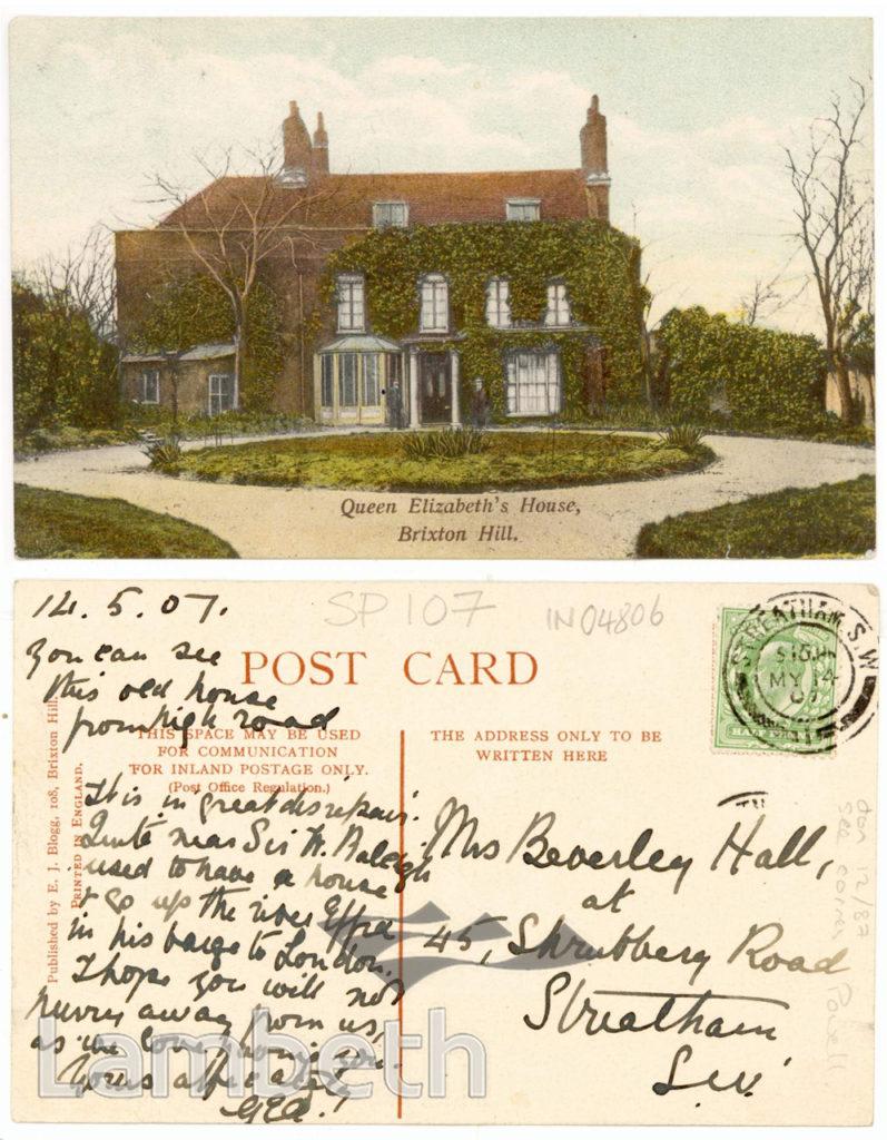 QUEEN ELIZABETH'S HOUSE, BRIXTON HILL