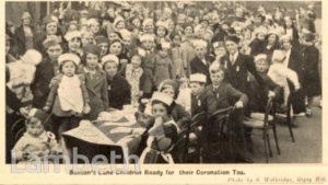 CORONATION CELEBRATIONS, BENTON'S LANE, WEST NORWOOD