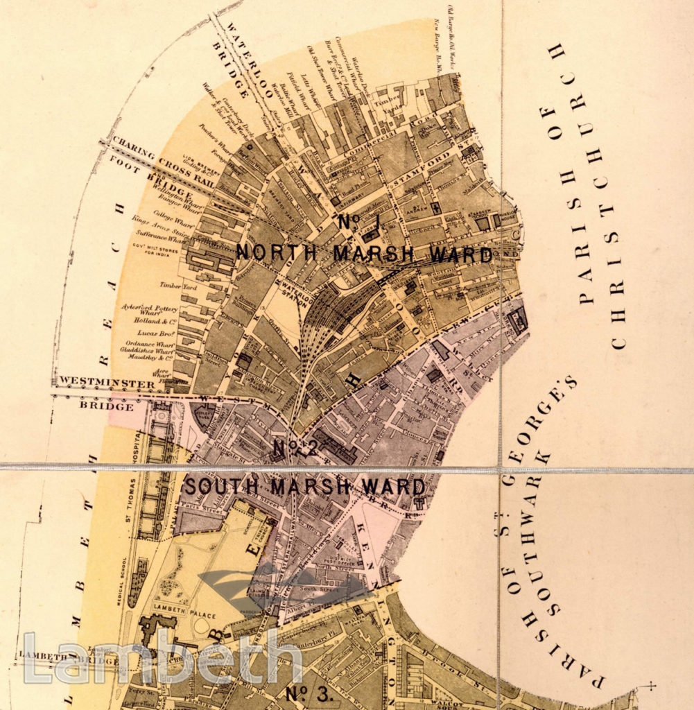 NORTH AND SOUTH MARSH WARDS, PLAN OF THE PARISH OF LAMBETH