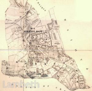 NORWOOD WARD (SOUTH), PLAN OF THE PARISH OF LAMBETH