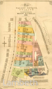 PLAN OF THE DALLEY ESTATE, BRIXTON