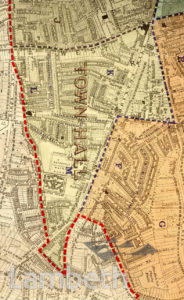 TOWN HALL WARD, PARISH MAP, BRIXTON CENTRAL AND BRIXTON HILL