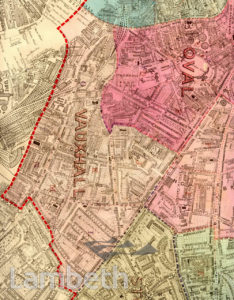VAUXHALL AND OVAL WARDS, PARISH MAP, VAUXHALL