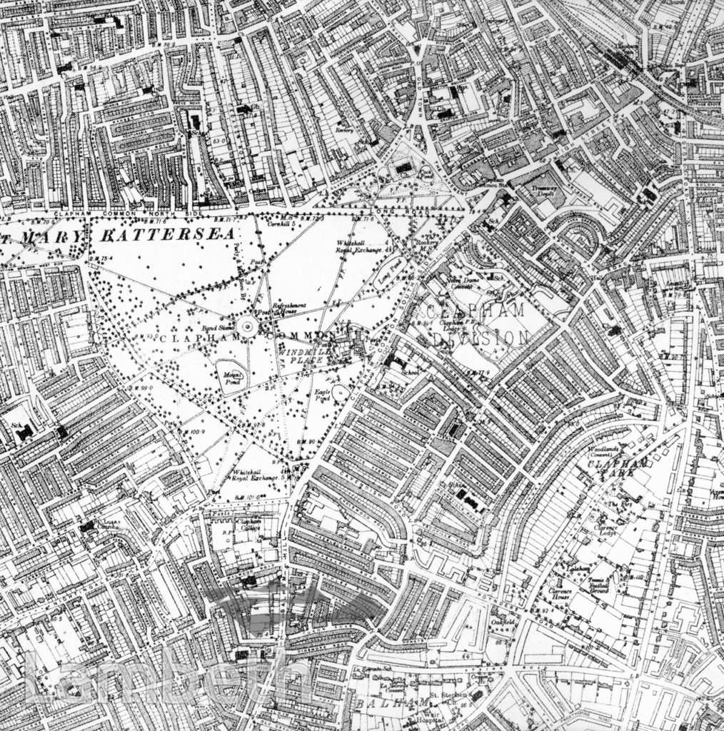 CLAPHAM AND STOCKWELL MAP