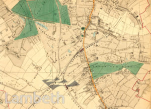 STREATHAM AND STREATHAM COMMON MAP