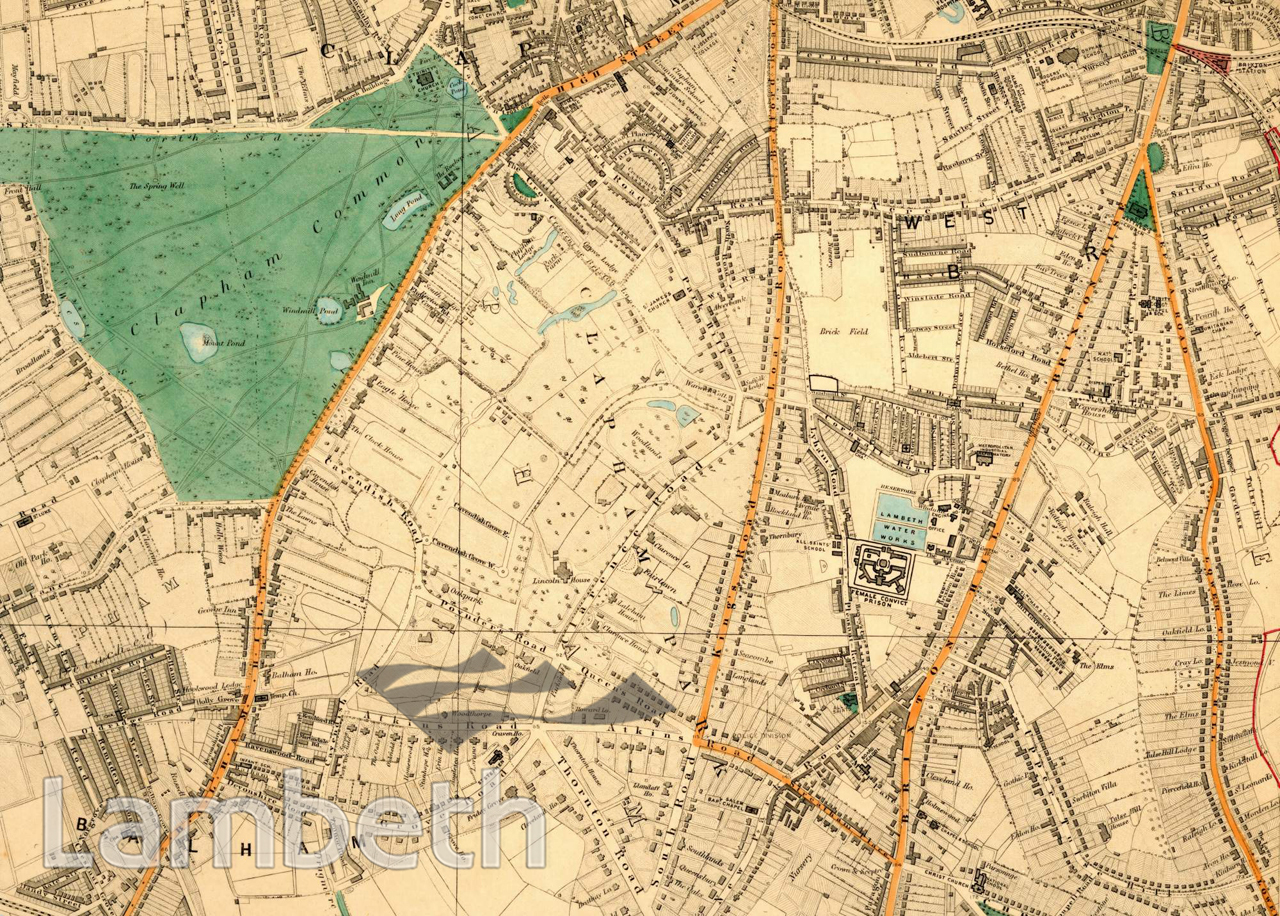 Clapham Common Map CLAPHAM AND CLAPHAM COMMON MAP   LandmarkLandmark