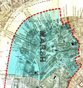 MARSH WARD, PARISH MAP OF LAMBETH