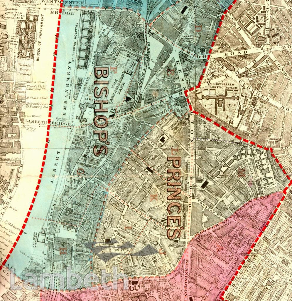 BISHOP'S AND PRINCE'S WARDS, PARISH MAP OF LAMBETH
