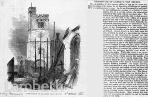 REBUILDING OF ST MARY'S CHURCH, LAMBETH
