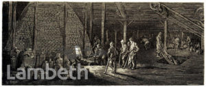DOULTON POTTERY: WORKERS AT THE KILN,  LAMBETH