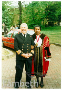 MAYOR OF LAMBETH AT VE DAY CELEBARATIONS, STREATHAM CENTRAL