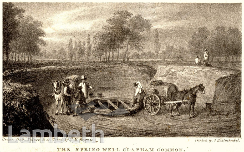 THE SPRING WELL, CLAPHAM COMMON, CLAPHAM